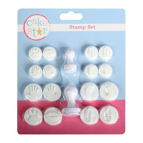 Cake Star Hand & Footprint Stamper Set - 18 pieces